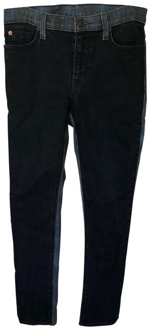 Item - Black Multi Double Face Plaid Stretch Skinny Jeans Size 0 (XS, 25)