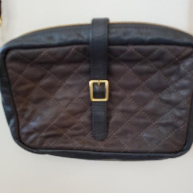 Item - Supreme Colorblock Quilted Mini Sac Black and Brown with Gold Hardware Leather Cross Body Bag