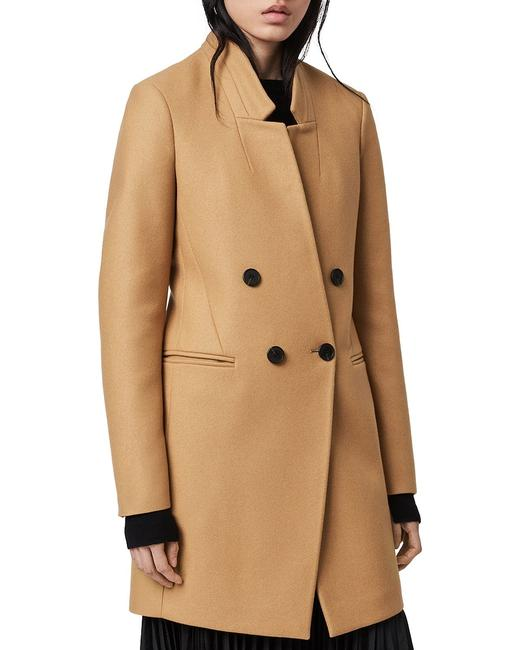 Item - Brown Camel Adrea Cashmere Blend Wool Double Breasted Button Coat Size 2 (XS)