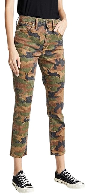 Item - Cottontail Camo Distressed High Rise Slim Boyjean Relaxed Fit Jeans Size 30 (6, M)