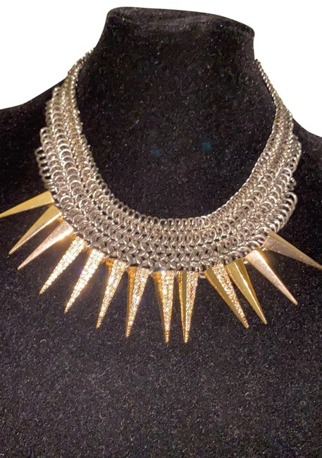 Item - Gold/Silver Spiked Necklace