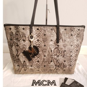 MCM Tote in Black and grey