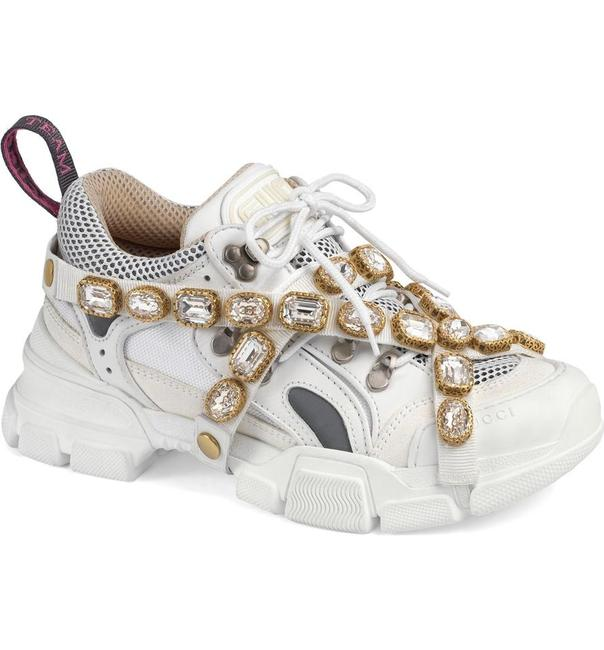 Item - White Journey Flashtrek Jewel Crystal Hiker Low Top Lace Up Boot Sneakers Size EU 36 (Approx. US 6) Regular (M, B)