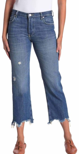 Item - Blue Distressed We The Maggie Crop Straight Capri/Cropped Jeans Size 2 (XS, 26)