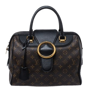 Louis Vuitton Monogram Canvas Leather Limited Edition Satchel in Brown
