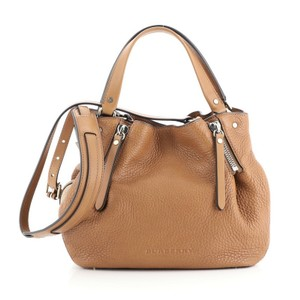 Burberry Leather Canvas Tote in brown