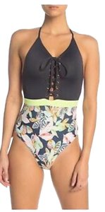 Maaji Reversible Black Forest/Limelight One Piece Swimsuit