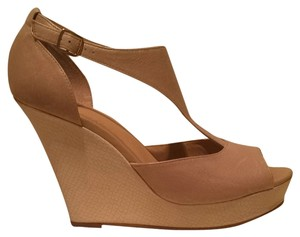 BC Footwear Beige Wedges