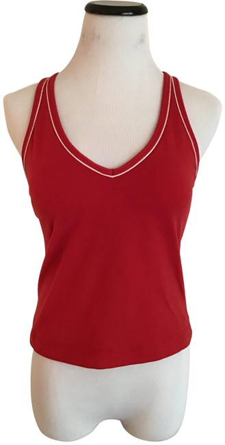 Item - Red/White Trim Activewear Top Size 2 (XS)