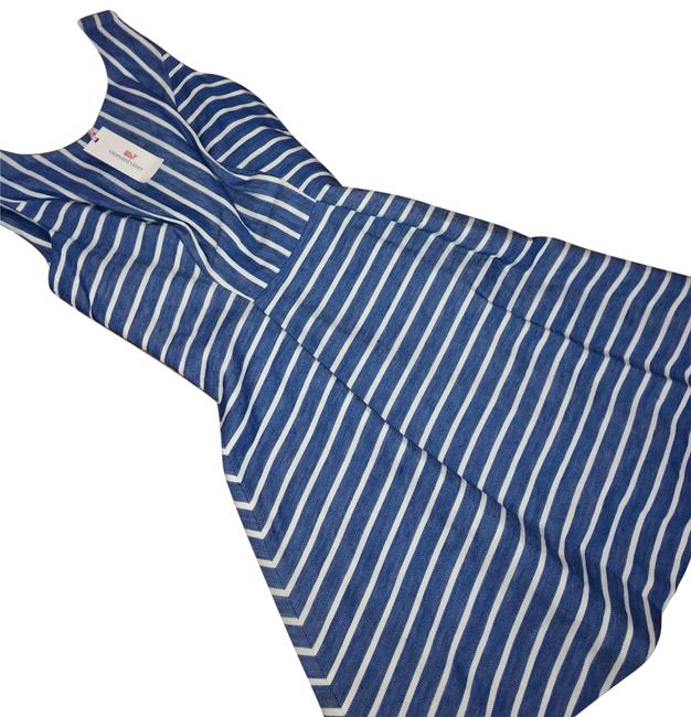 Item - Spinnaker Style: 2q0801 - 427 -30104 Cotton Linen Stripe Mid-length Short Casual Dress Size 4 (S)