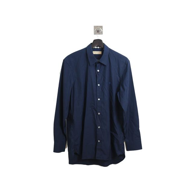 Item - Navy London Embroided Logo Shirt Button-down Top Size 8 (M)