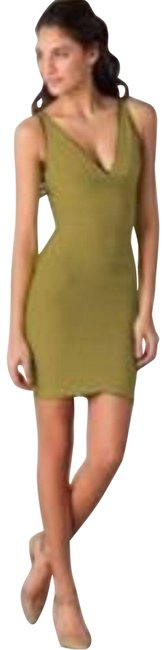 Item - Green Lauren V-neck Signature Bandage Short Night Out Dress Size 2 (XS)