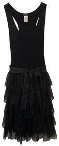 Collette Dinnigan short dress Black Tiers Ruffles Mesh Netting on Tradesy