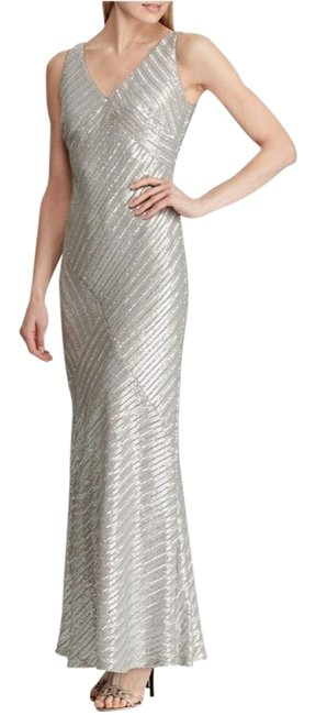 Item - Grey Pearl Kendalyn Sleeveles Sequin Gown Long Formal Dress Size 4 (S)