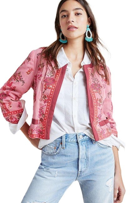 Item - Red Pink Blank London Evanio Rose Embroidered Jacket Size 8 (M)