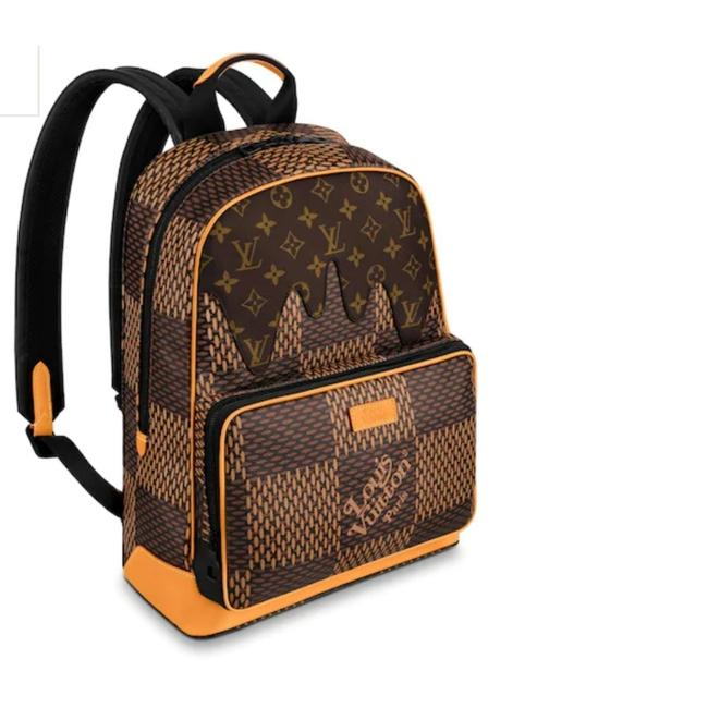 Item - Lv2 Campus Ebene Damier Print Limited Edition Brown Coated Canvas Backpack