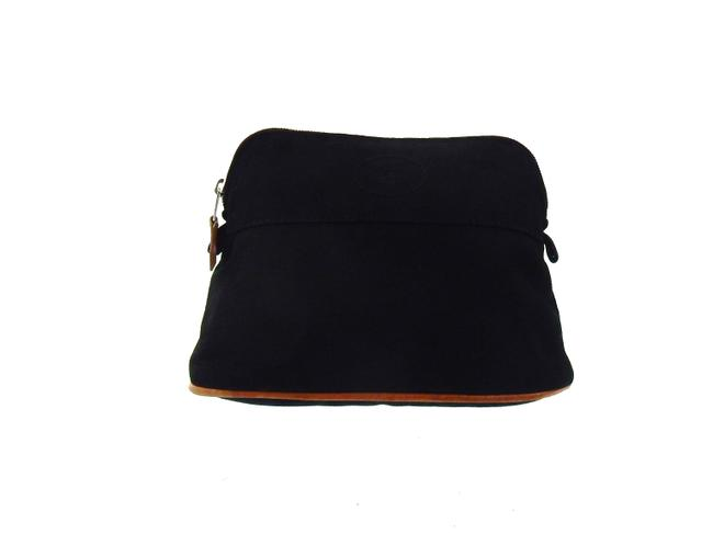 Item - Black Bolide Mm Canvas Makeup Travel Dopp Extra Pouch France Cosmetic Bag