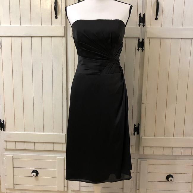 Belsoie Black Polyester Strapless Formal Bridesmaid/Mob Dress Size 6 (S) Belsoie Black Polyester Strapless Formal Bridesmaid/Mob Dress Size 6 (S) Image 1