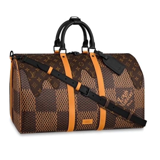 Preload https://img-static.tradesy.com/item/27539694/louis-vuitton-keepall-lv2-ebene-damier-print-50-bandouliere-limited-edition-brown-coated-canvas-shou-0-3-540-540.jpg