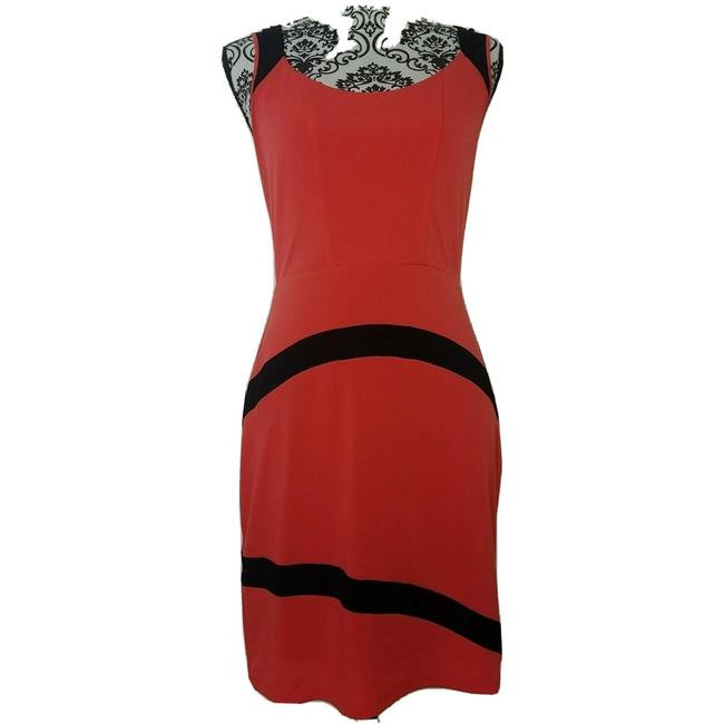 Item - Red Mid-length Short Casual Dress Size 4 (S)