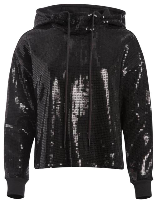 Item - Black And Niki Sequined Funnel-neck Sweatshirt/Hoodie Size 2 (XS)