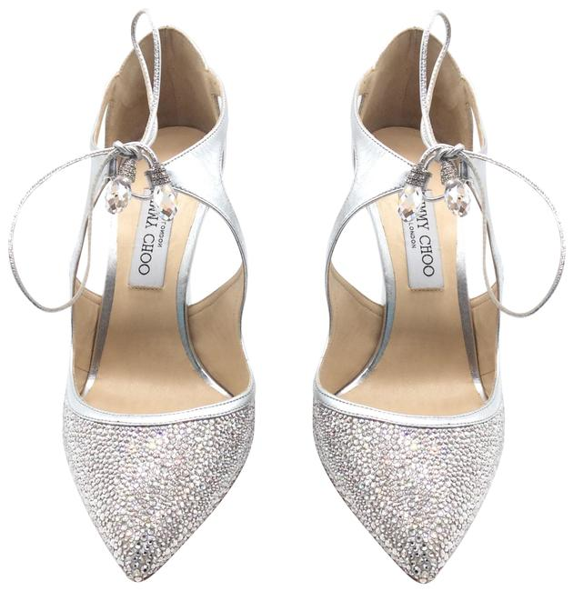 Item - Silver Vanessa 100 Crystal/Silver Formal Shoes Size EU 40 (Approx. US 10) Regular (M, B)