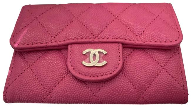 Chanel Barbie Pink Classic Card Holder Wallet Chanel Barbie Pink Classic Card Holder Wallet Image 1