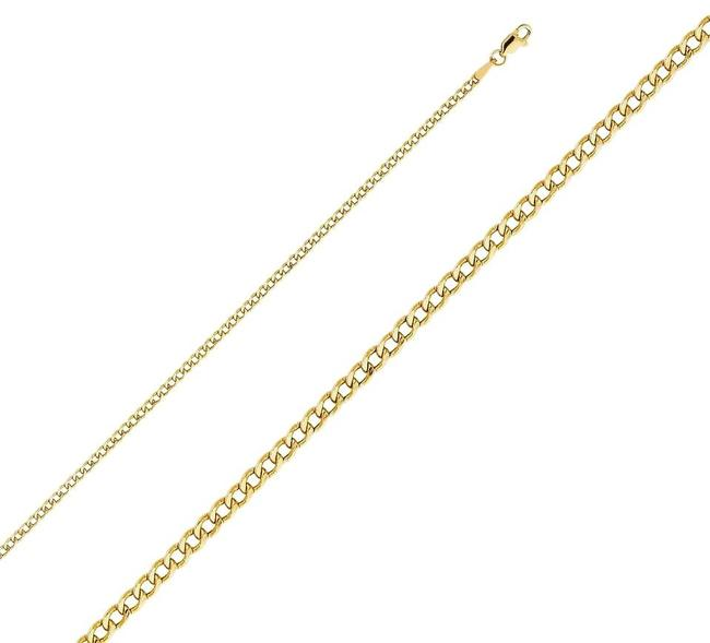 """Yellow 14k Gold 2.4 Mm Cuban Chain - 22"""" Necklace Yellow 14k Gold 2.4 Mm Cuban Chain - 22"""" Necklace Image 1"""