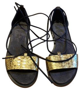 Brunello Cucinelli GOLD/BROWN Sandals