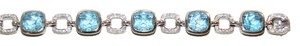 Krista Krista 18KT white gold Blue Topaz and diamond bracelet