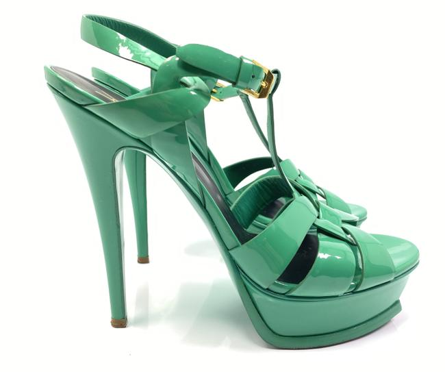 Item - Green Tribute Ysl Yves Patent Leather Pumps Sandals Size EU 39.5 (Approx. US 9.5) Regular (M, B)