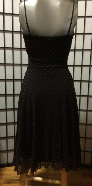 H&M short dress black with red polka dots on Tradesy