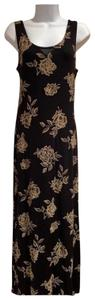 black with flowers Maxi Dress by All That Jazz