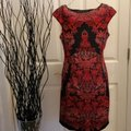 Wisp Red Black Mid-length Formal Dress Size 6 (S) Wisp Red Black Mid-length Formal Dress Size 6 (S) Image 4