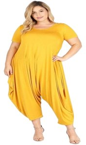 Boho Chic Plus-size Relaxed Pants Yellow