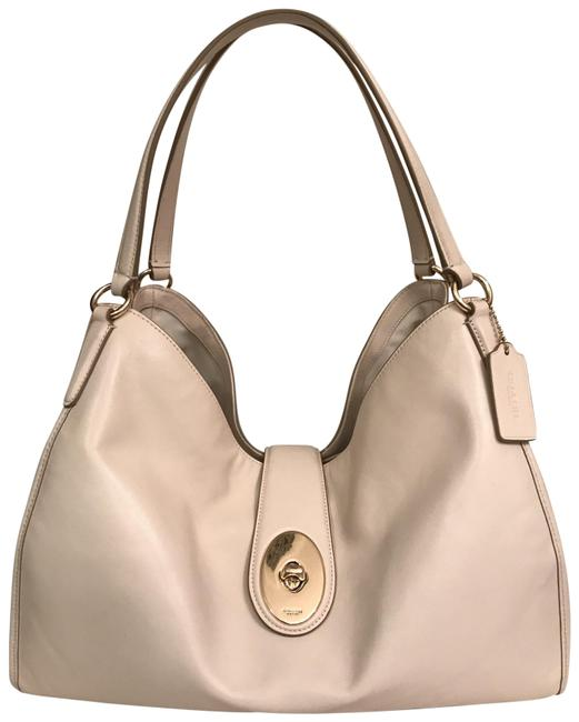 Item - Carryall Carlyle F37637 White Gold Leather Shoulder Bag