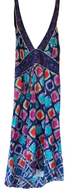 dELiA*s short dress Multi Tie Dye Pattern Circles Dots Embroidered Halter on Tradesy