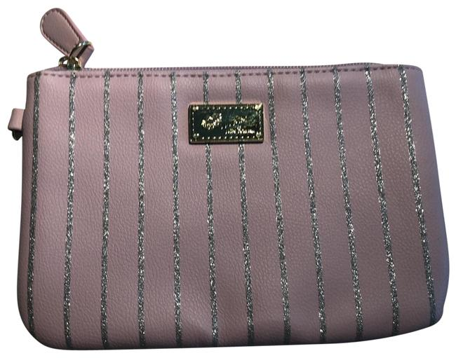 Item - Pink with Silver Stripes Cosmetic Bag