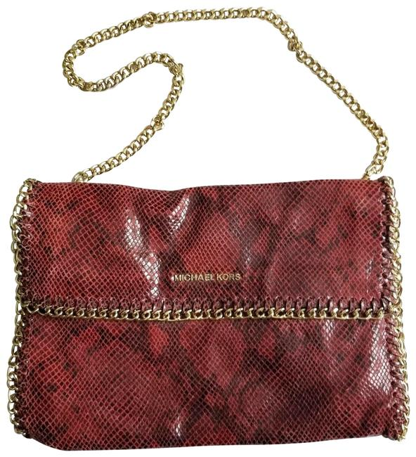Michael Kors Chelsea Oversized Red Leather Clutch Michael Kors Chelsea Oversized Red Leather Clutch Image 1
