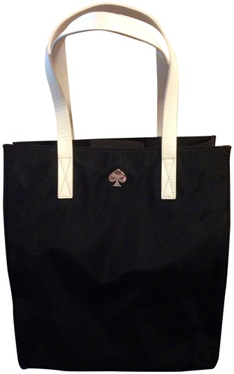 Kate Spade Leather Nylon Water-resistant Shoulder Tote in Black