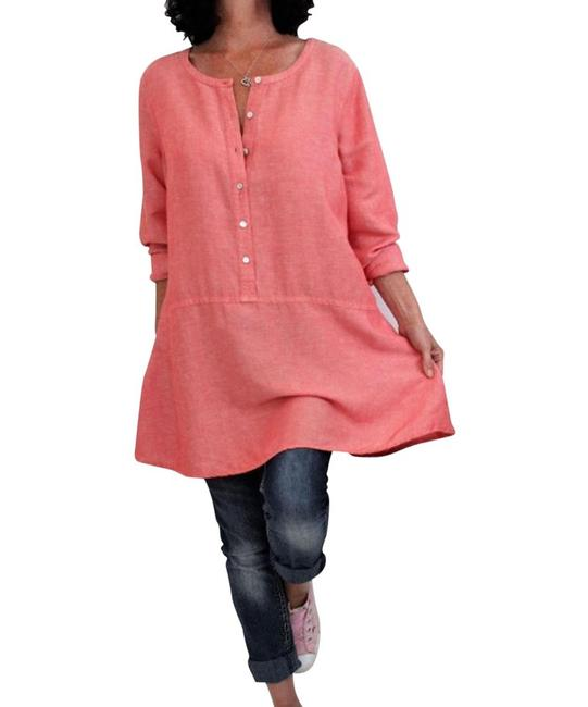 Item - Coral Long Sleeve Shirt Tunic Size 6 (S)