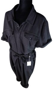 Good American Cotton Utility Utilitarian Sexy Belted Dress