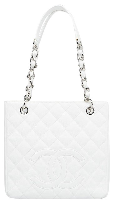 Chanel Shopping Quilted Blanc White Caviar Leather Tote Chanel Shopping Quilted Blanc White Caviar Leather Tote Image 1