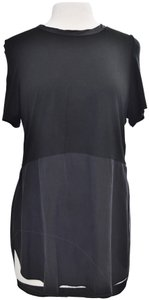 Wilfred Silk Two Tone T-shirt Top Black
