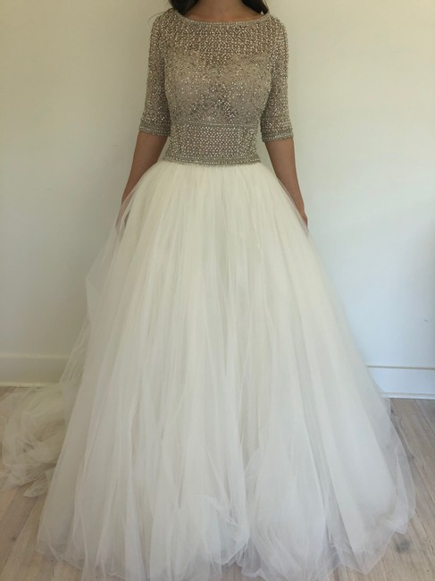 Item - Silver Ivory Allen Gown Traditional Wedding Dress Size 10 (M)