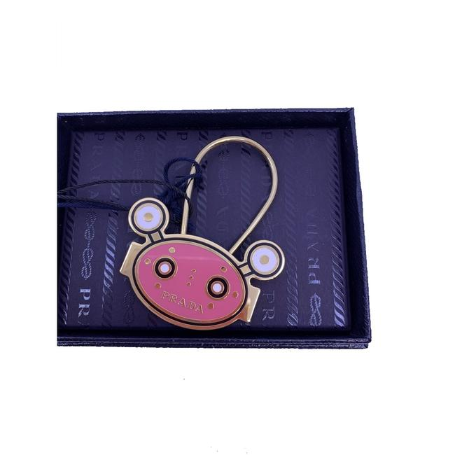 Item - Pink Keychain Robot Head Gold Hardware 1ps038 Tech Accessory