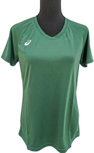 asics Asics women's CIRCUIT 8 WARM-UP SHIRT size M forest.
