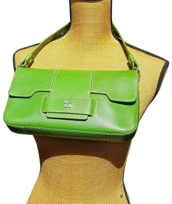 Item - Pebbled Green Leather Baguette
