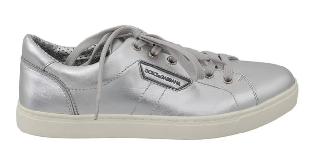 Item - Silver Leather Mens Casual Sneakers Dolce & Gabbana Flats Size US 12 Narrow (Aa, N)