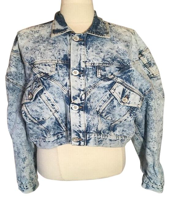 Item - Blue Dolman Sleeve Jacket Size 8 (M)